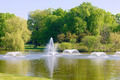 Fountains in the park in Wroclaw, Poland - PhotoDune Item for Sale