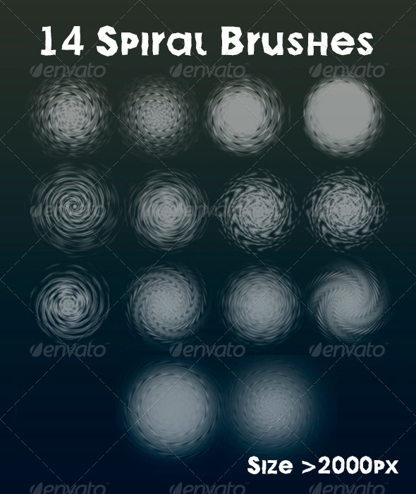 GraphicRiver 14 Spiral Brush Set 5853500