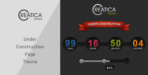 Creatica - Under Construction Theme - Under Construction Specialty Pages
