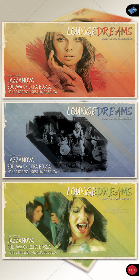 Music & Event Flyer - Lounge Dreams Vol. 1 - Print Templates