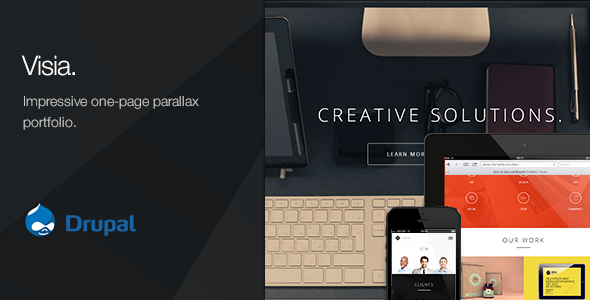 Pluto - Creative Onepage & MutiPages Drupal Theme