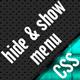 Hide & Show Menu – FULL CSS (Navigation and Menus) Download