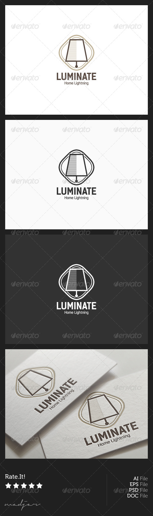 Lamp Logo - Objects Logo Templates