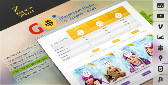 Go - Responsive v2.1 Pricing and Compare Tables for WP - CodeCanyon 3725820