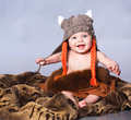 Little baby in viking style hat - PhotoDune Item for Sale