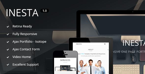 ThemeForest Inesta Responsive One Page Portfolio Template 5856138