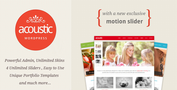 Acoustic - Powerful Elegant WordPress Theme - ThemeForest