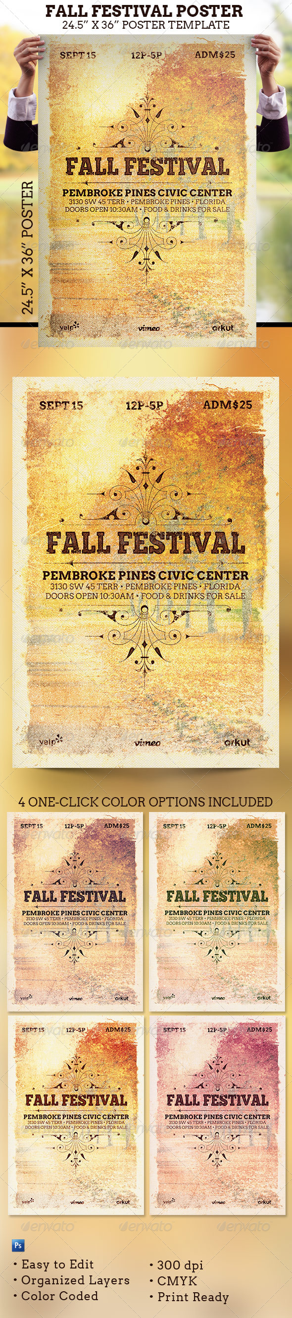 GraphicRiver Fall Festival Poster Template 5856223