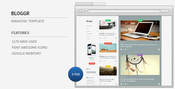 Bloggr- Magazine PSD Template - Miscellaneous PSD Templates