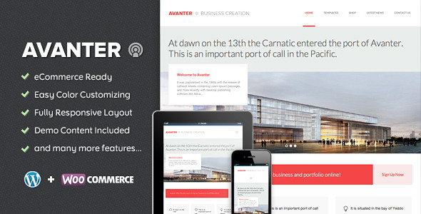 ThemeForest Avanter Corporate & Architecture Theme 5857663