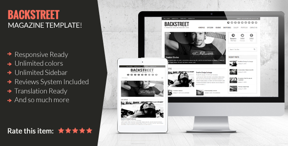 Backstreet - Blog & Magazine Theme - Blog / Magazine WordPress
