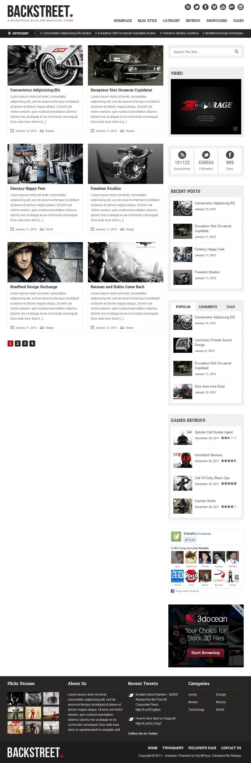 Backstreet - Blog & Magazine Theme
