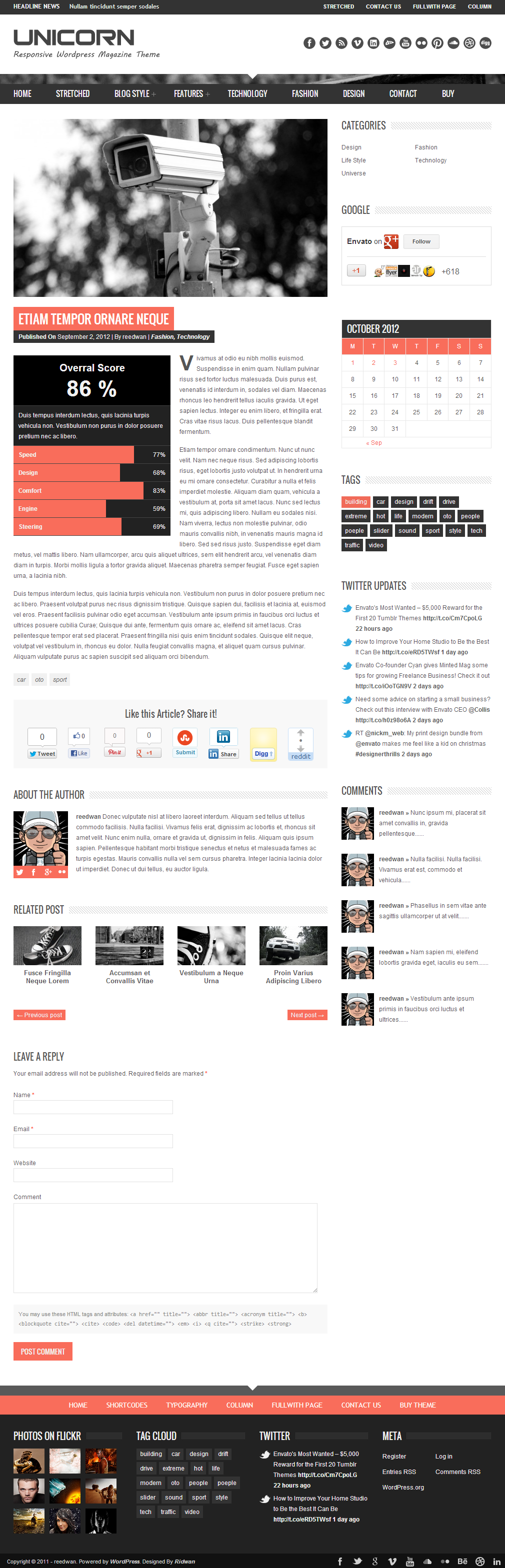 Unicorn - Clean and Responsive Magazine Theme