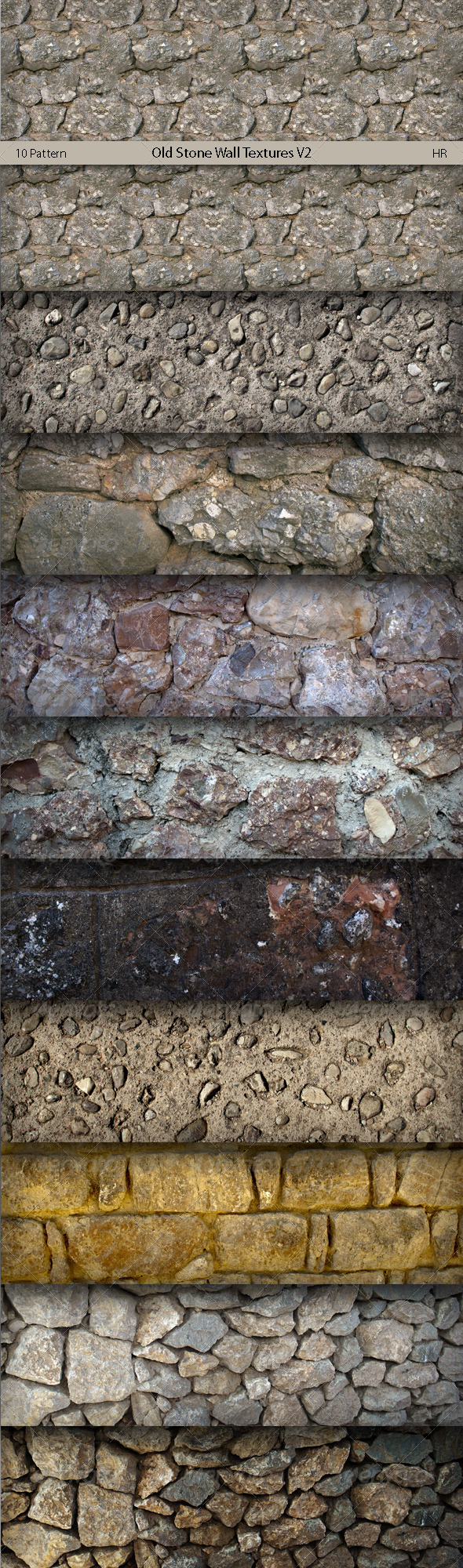 3DOcean Old Stone Wall Surface Textures V2 5857856
