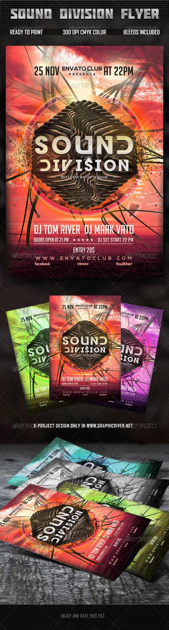 GraphicRiver Sound Division Flyer 5858779