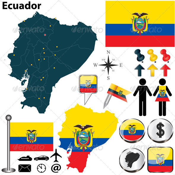 GraphicRiver Map of Ecuador 5859618