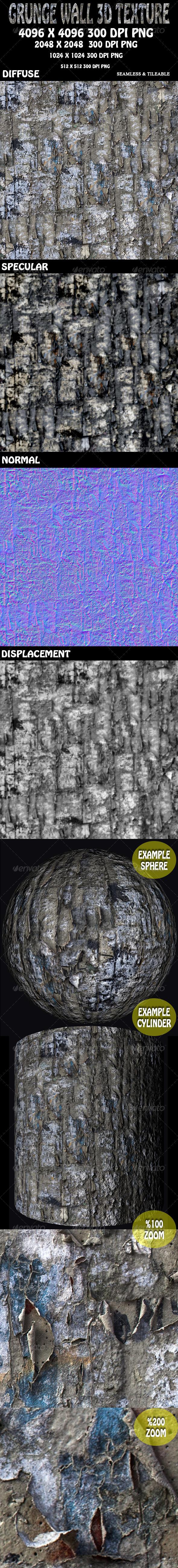 3DOcean Grunge Wall 3D Texture 5859661