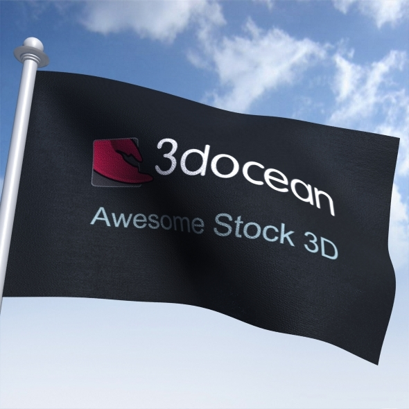 3DOcean Animated Flag 5859850