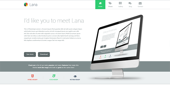 ThemeForest Lana One Page WordPress Theme 5834854