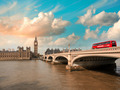 Westminster Bridge and Houses of Parliament at sunset, London. B - PhotoDune Item for Sale