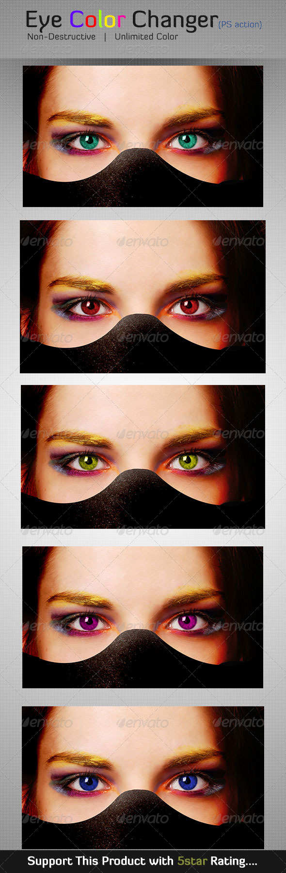 GraphicRiver Eye Color Changer Photoshop Action Custom Color 5860712