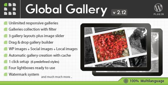 Global Gallery - WordPress Responsive Gallery plugin
