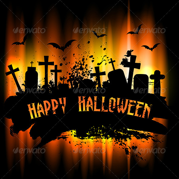 GraphicRiver Halloween Background 5860779