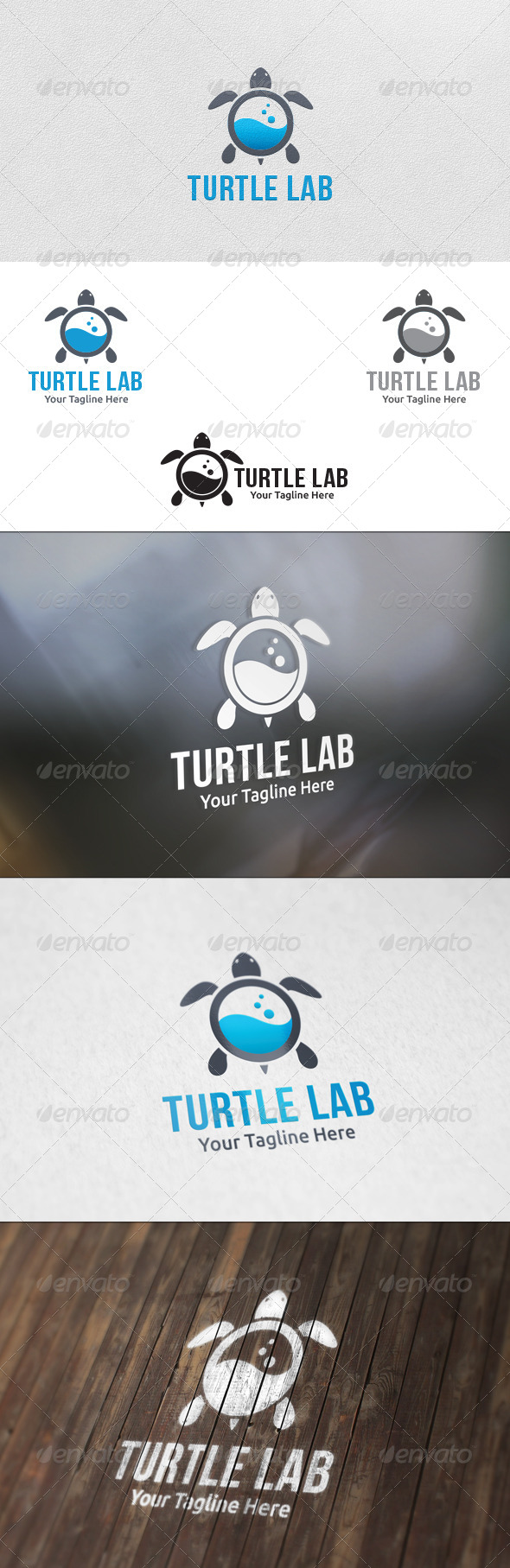 GraphicRiver Turtle Lab Logo Template 5860795