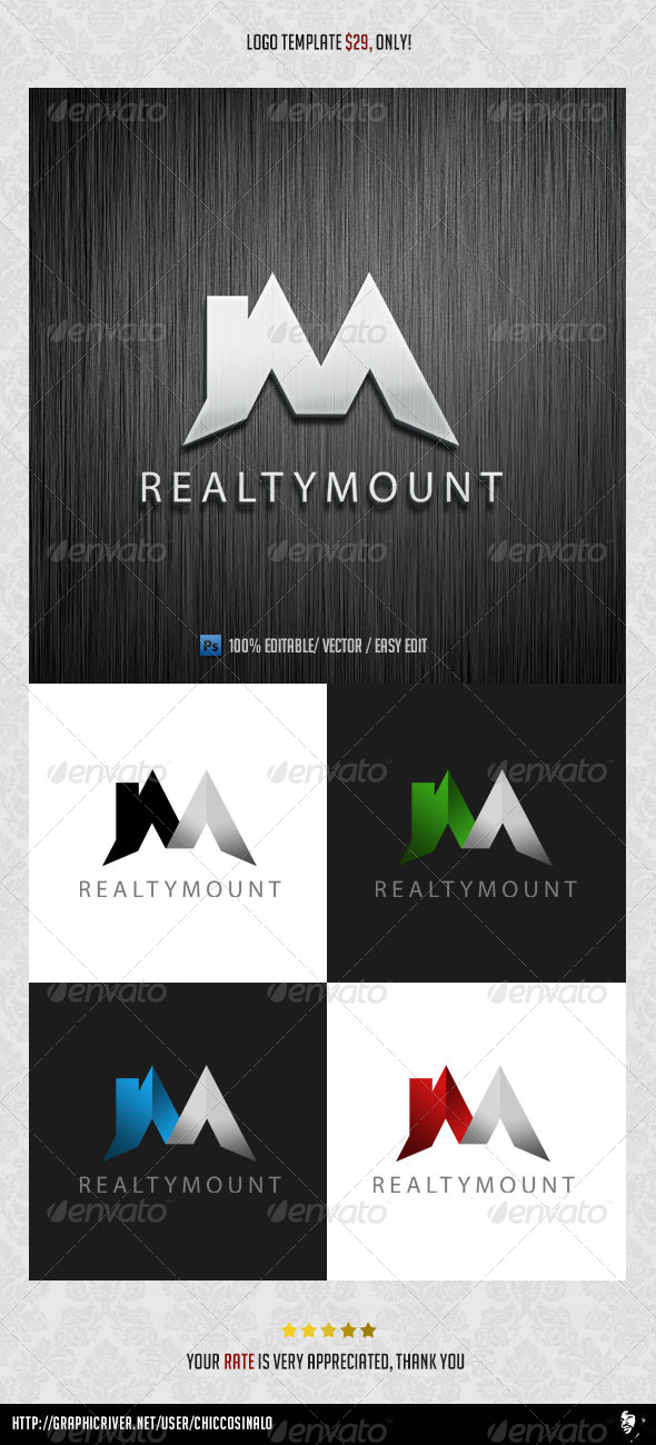 RealtyMount Logo Template - Buildings Logo Templates