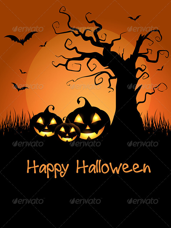 GraphicRiver Halloween Background 5860864