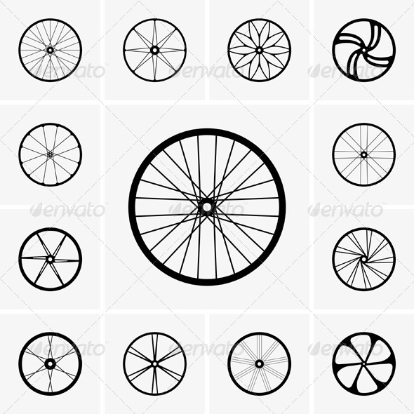 GraphicRiver Bicycle Wheels 5861279