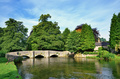 Sheepwash Bridge and the River Wye at Ashford-In-The-Water in Derbyshire,England - PhotoDune Item for Sale