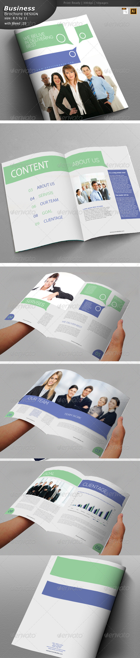 GraphicRiver Business Brochure Design 5822806