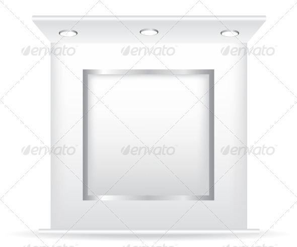 GraphicRiver Trade Stand and Frame Illustration 5862026