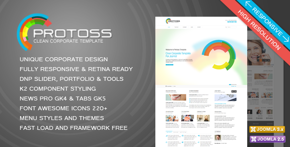Protoss - Corporate Business Responsive Joomla Template