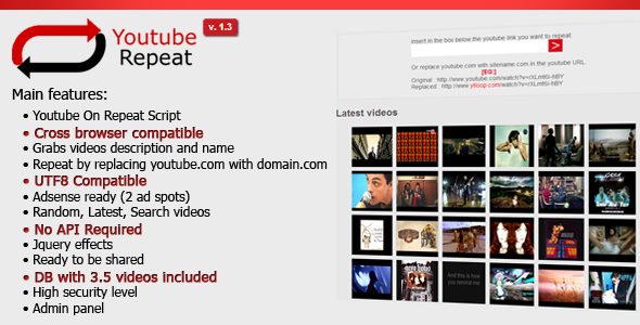 Youtube Looper - Youtube on repeat - CodeCanyon Item for Sale