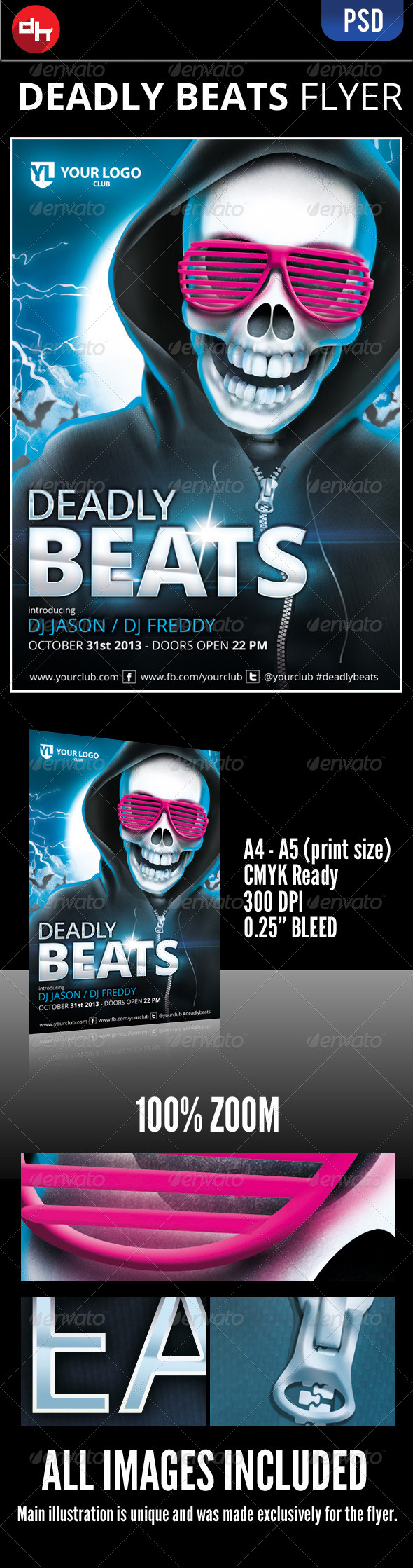 GraphicRiver Deadly Beats 5863905