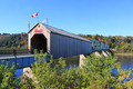 Covered Wooden Bridge in Florenceville, New Brunswick - PhotoDune Item for Sale