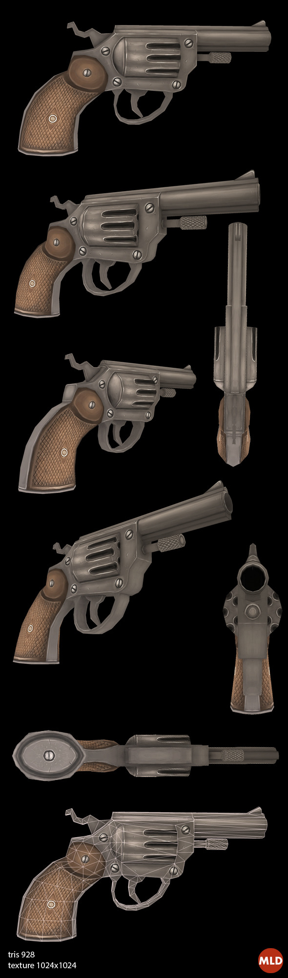 3DOcean Low poly Gun 5866143