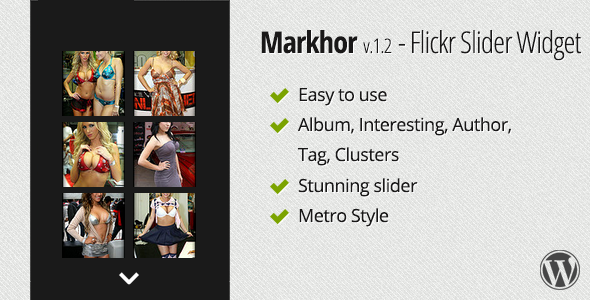 Markhor - Flickr Slider Widget - CodeCanyon Item for Sale