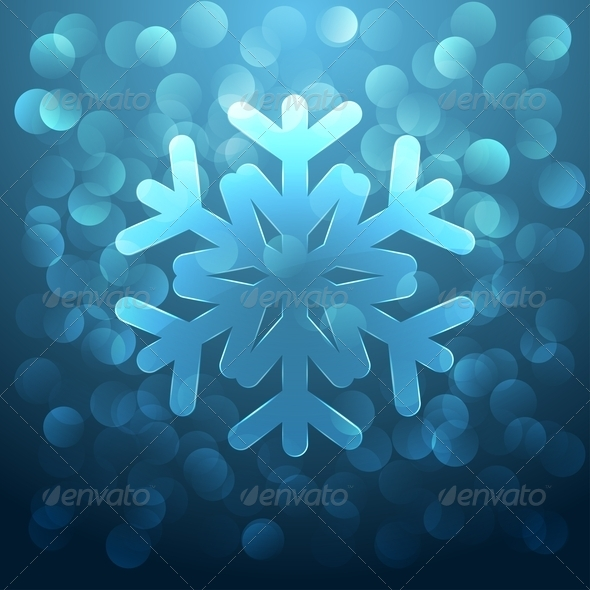 Glass Snowflake - Christmas Seasons/Holidays