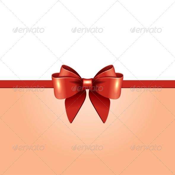 GraphicRiver Greeting Card with Red Bow 5868806