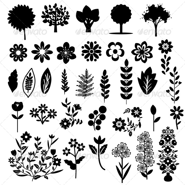 GraphicRiver Plants Set 5869478