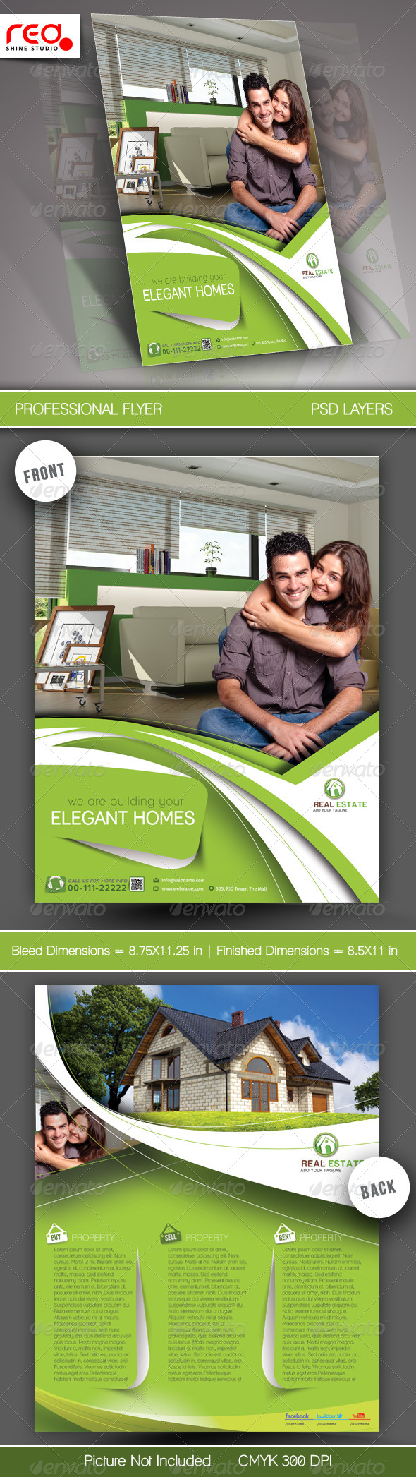 GraphicRiver Real Estate Flyer & Poster Template 5870238