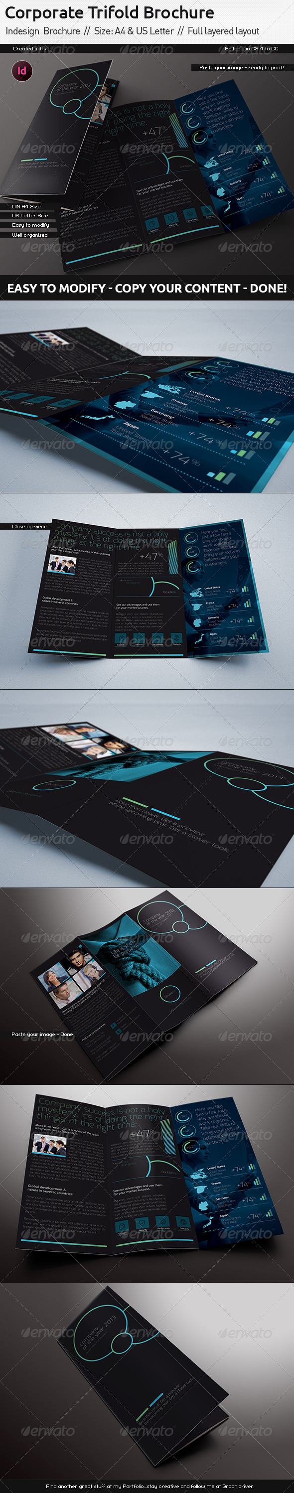 GraphicRiver Trifold Indesign Brochure US Letter Din A4 5870483