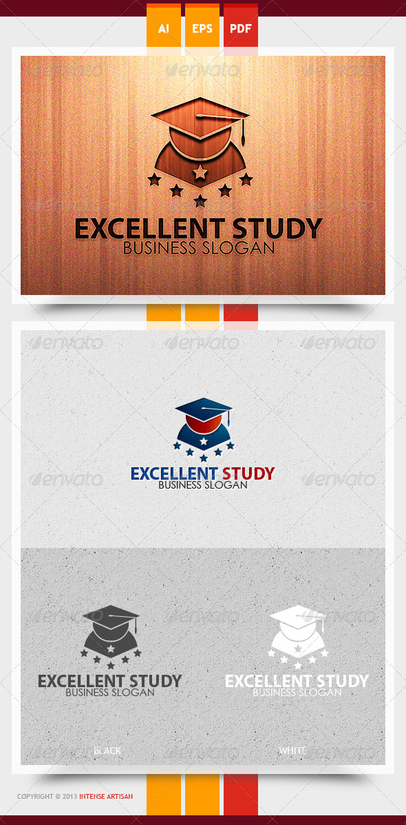 GraphicRiver Excellent Study Logo Template 5870632