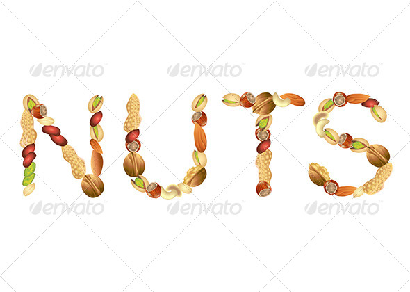 GraphicRiver Nuts Word From Seeds Vector 5870920