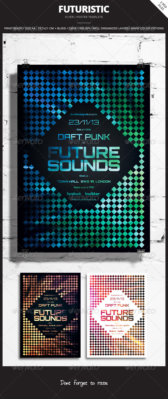 Futuristic Flyer / Poster 4 - Events Flyers
