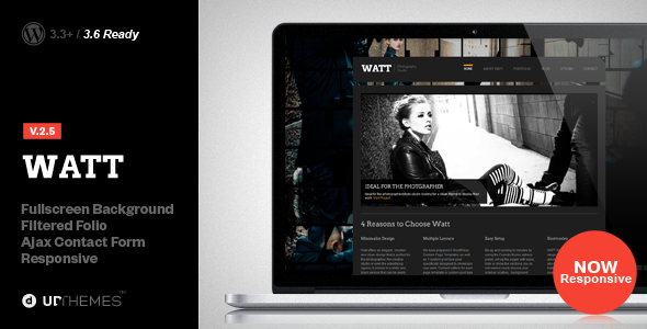WATT Creative Studio Wordpress Theme - Creative WordPress