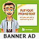 Travel Promo Web Banner Design - GraphicRiver Item for Sale